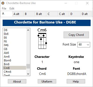 baritone-ukulele-chord-chart-font