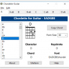 Chordette for Guitar chords screenshot - available with Guitar chord fonts for Mac and Windows.