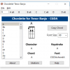 Chordette for Tenor Banjo chords screenshot - available with Tenor Banjo chord fonts for Mac and Windows.